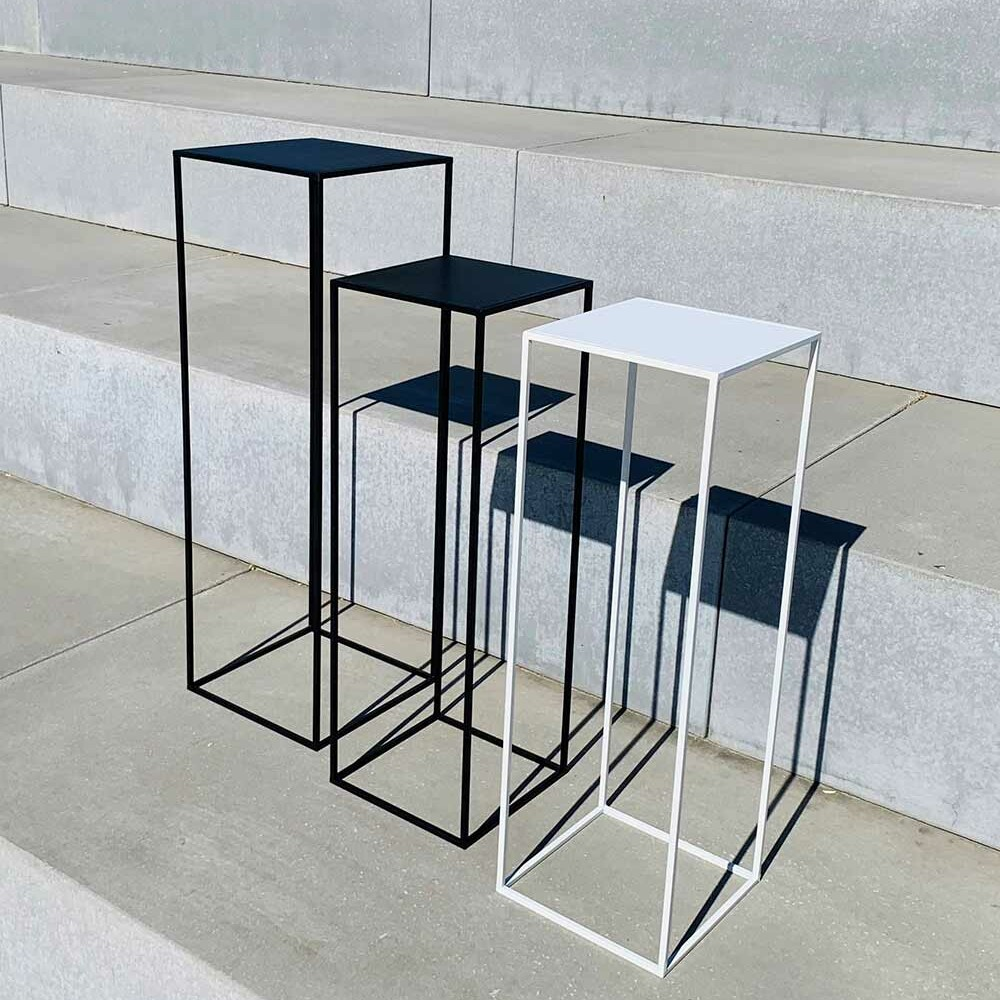 high tables - black or white metal - different sizes